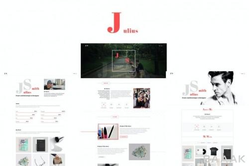 قالب وبسایت با طرح مینیمالیستی