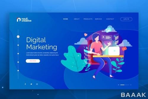 قالب وبسایت بازاریابی دیجیتال