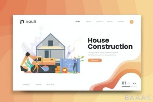 قالب وبسایت ساخت و ساز خانه