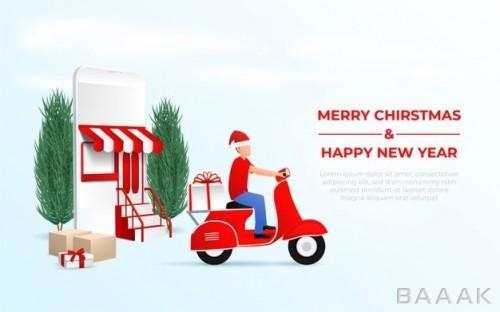 آنلاین شاپ با طرح کریسمس