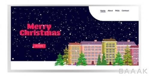 قالب صفحه فرود کریسمسی